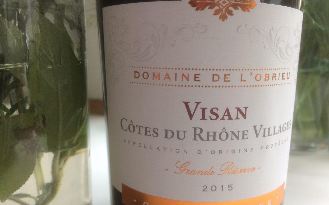 Ugens Vin – økologisk rød Côtes-du-Rhône Villages fra Visan